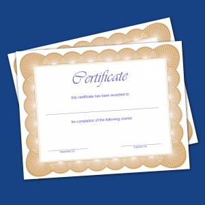Certificates printing in doha qatar quick view standard certificate 2 colour stopboris Image collections